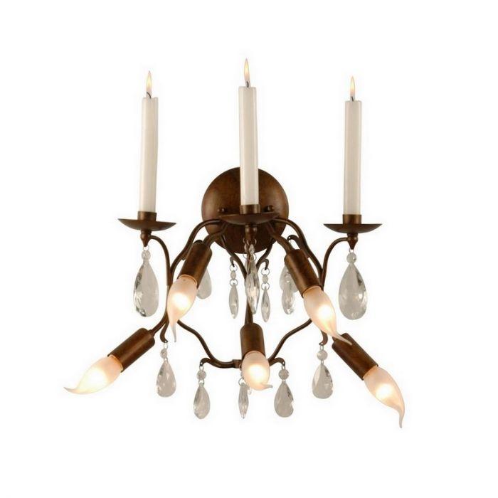 Klassieke Milah wandlamp, antiek bruin