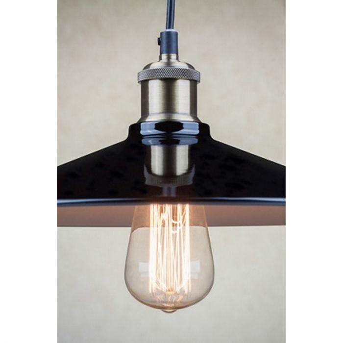 Odile II hanglamp, industrieel, zwart