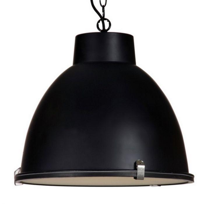 Fons hanglamp, industrieel, zwart