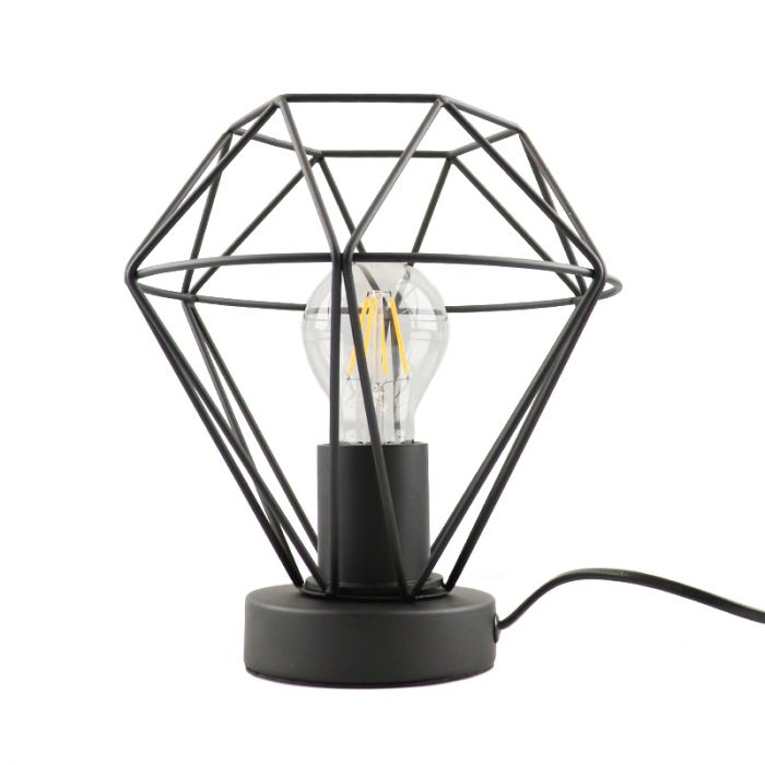 Stoere, industrie tafellamp met aan/uit schakelaar Jochem klein