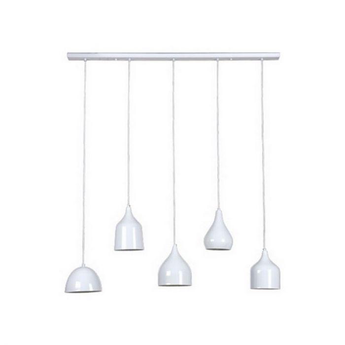 Moderne hanglamp Jarne, vijf lampjes, wit