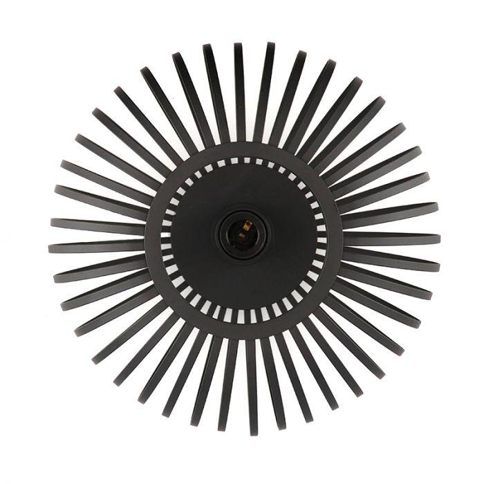 Zwarte plafonniere Lieve, Rond, klein