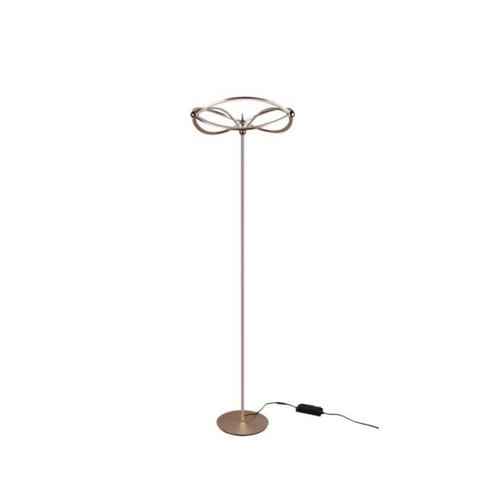 Moderne vloerlamp Remy, messing, 31w geintegreerd LED