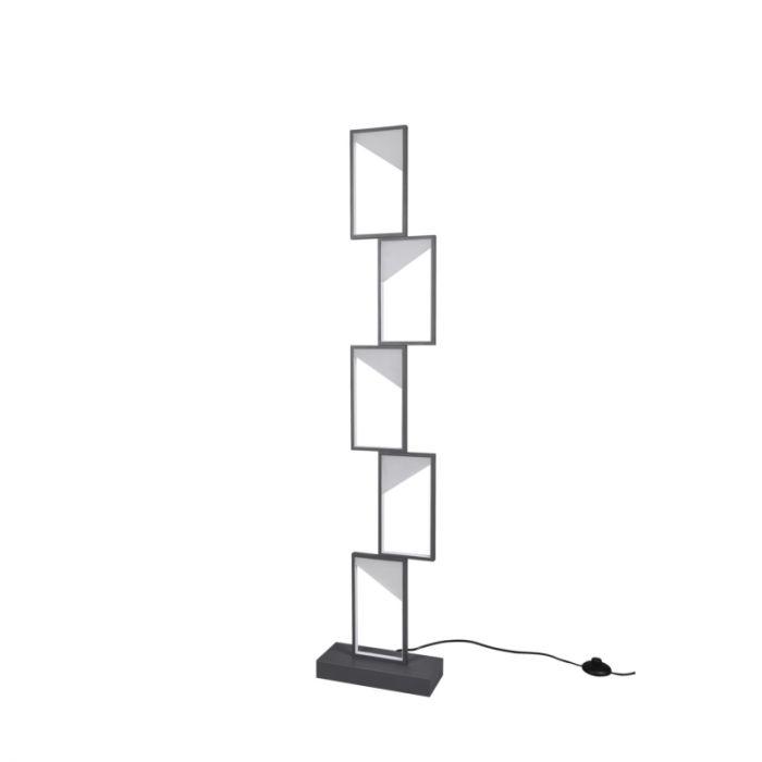 Moderne vloerlamp Silas, antraciet, 33w geintegreerd LED