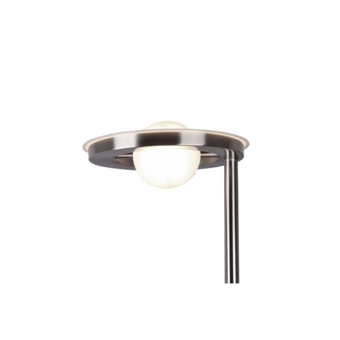 Moderne staande leeslamp Yazid, nikkel, 32w geintegreerd LED