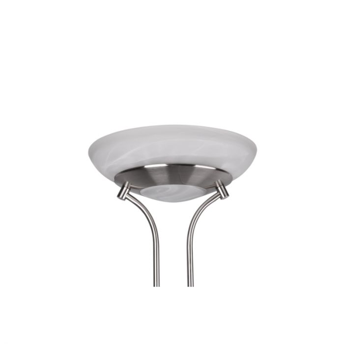 Moderne staande leeslamp Fredrika, nikkel, 27w geintegreerd LED
