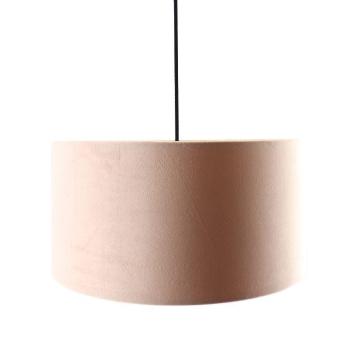 Hanglamp Urvin, roze met goud velours, 50 cm
