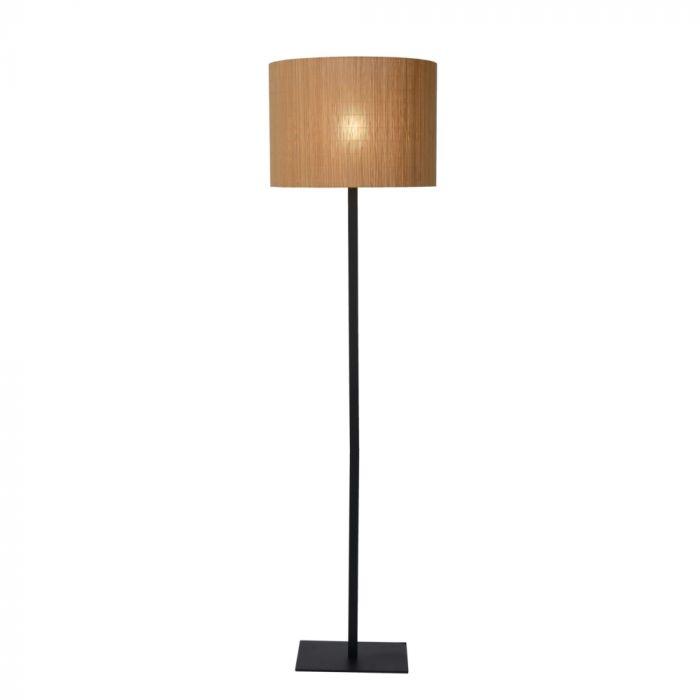 Bruine vloerlamp Magius, rotan