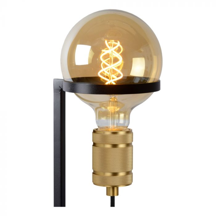 Zwarte vloerlamp Ottelien, staal