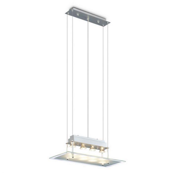 Jurjen rechthoekige hanglamp, glasplaat