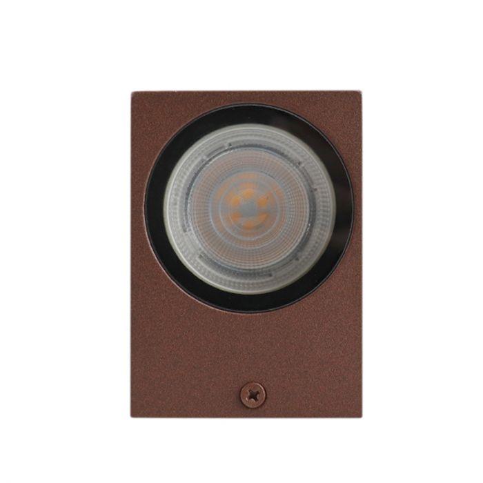 Roestbruine buitenlamp Corella groot - modern