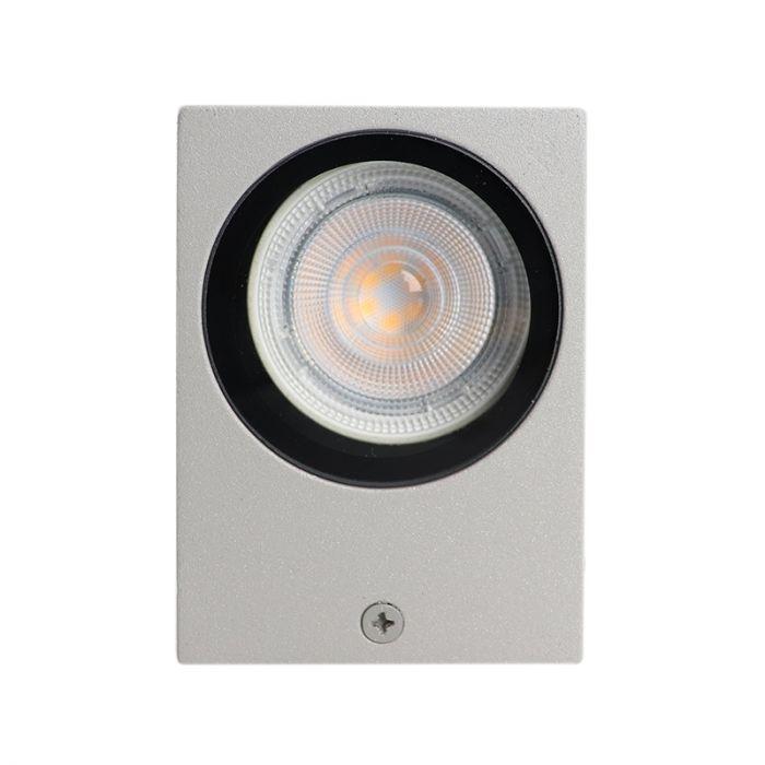 Lichtgrijze buitenlamp Corella groot - modern