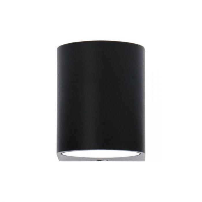 Kleine Corina buitenlamp - Zwart, rond