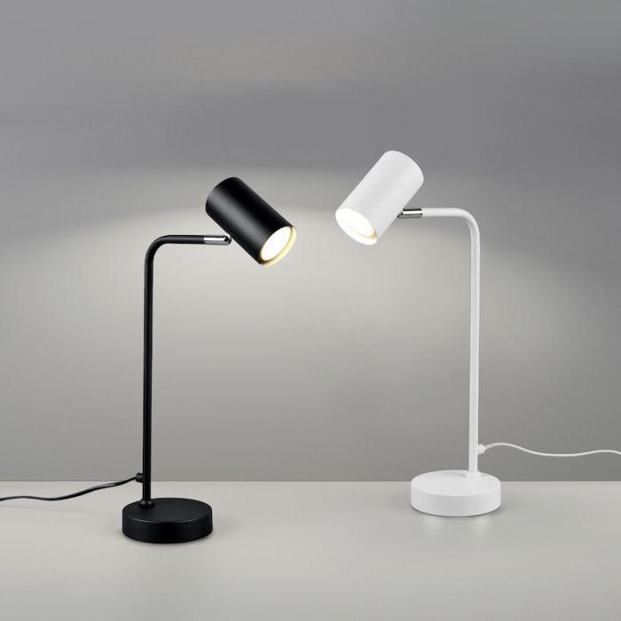 Moderne tafellamp Kaso, zwart