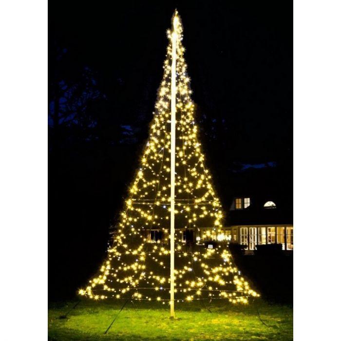 6M hoge vlaggenmast kerstboom, 1200 lampjes