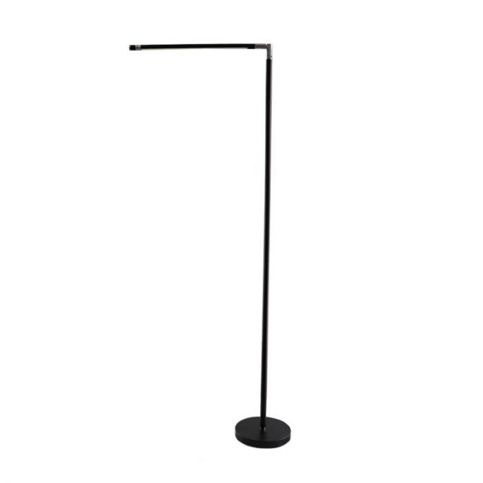 Salvador moderne zwarte vloerlamp, incl. LED en touchdimmer