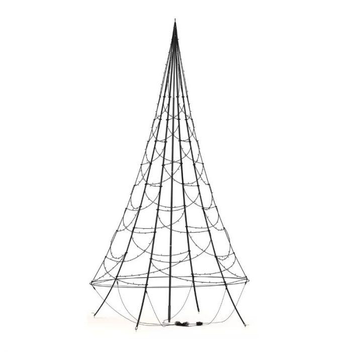 4,2M hoge vlaggenmast kerstboom, 400 lampjes, Inclusief mast!