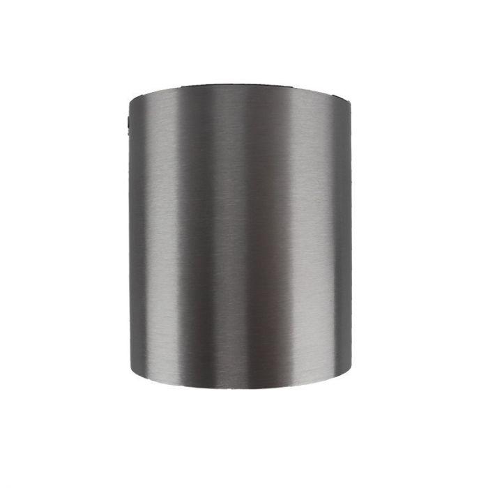 Richtbare, zilvergrijze opbouwspot Levi, Ronde zijkanten