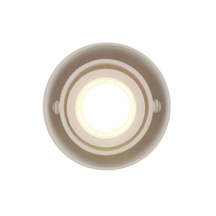 Richtbare, witte opbouwspot Levi, Ronde zijkanten