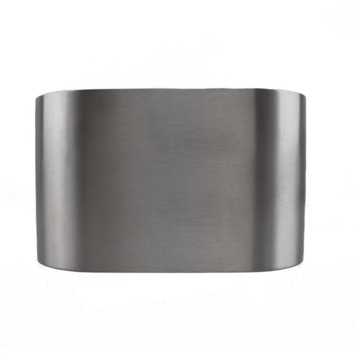 Richtbare, zilvergrijze opbouwspot Levi, 2-spots, Ronde zijkanten