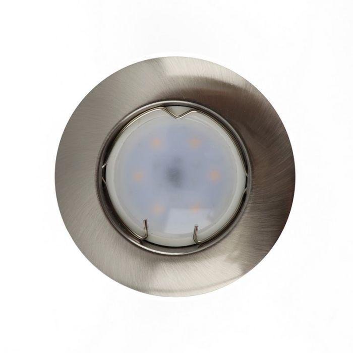Zilvergrijze inbouwspot Rudo