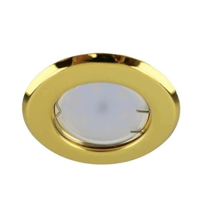 Gouden inbouwspot Ando