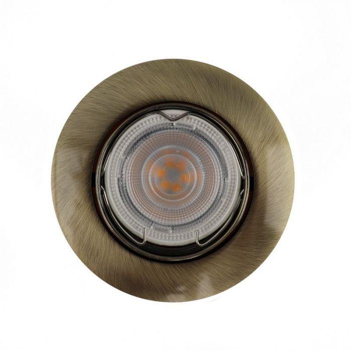Bronzen kantelbare inbouwspot Rudo, kantelbaar