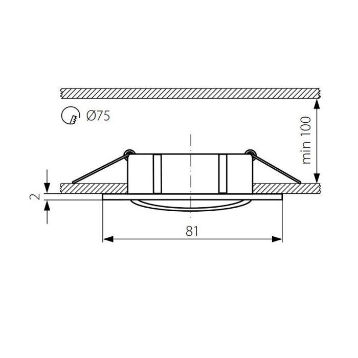Koperen vierkante inbouwspot Ravi, kantelbaar