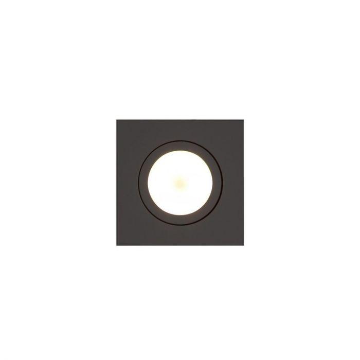 Witte vierkante inbouwspot Onno, kantelbaar