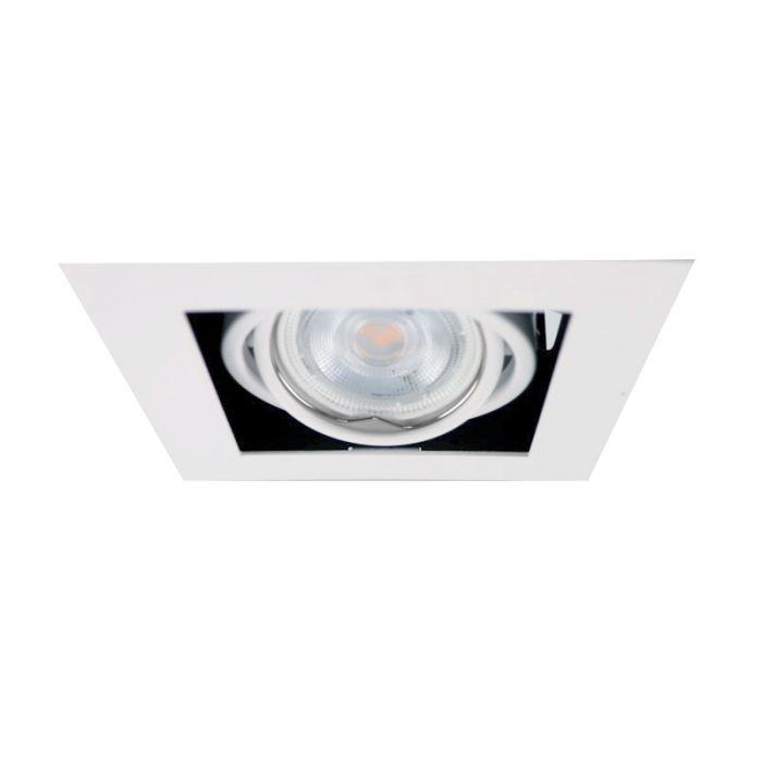 Vierkante inbouwspot Tyrese, wit