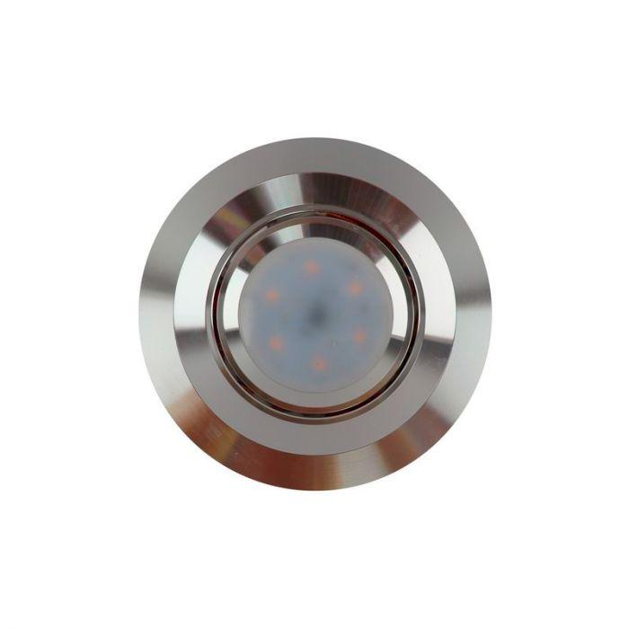 Ronde inbouwspot Tycho, aluminium
