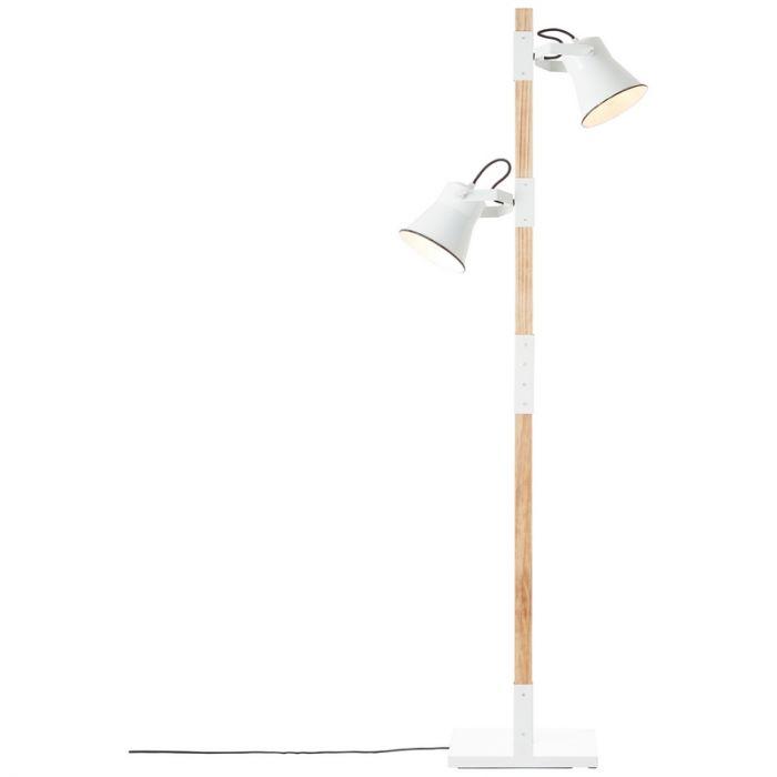Industriële staande leeslamp Audrey, Metaal, met Aan/uit schakelaar op het snoer