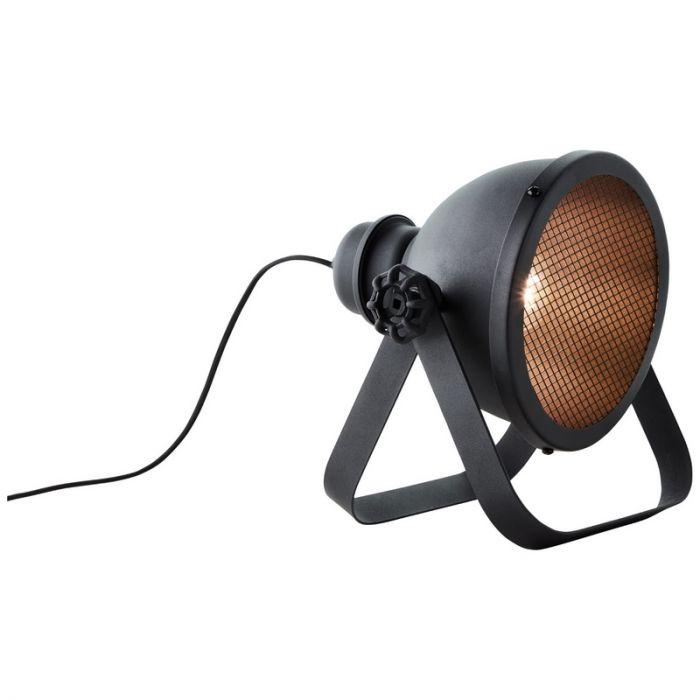 Industriële Tafellamp Senna, Metaal, met Aan/uit schakelaar op het snoer