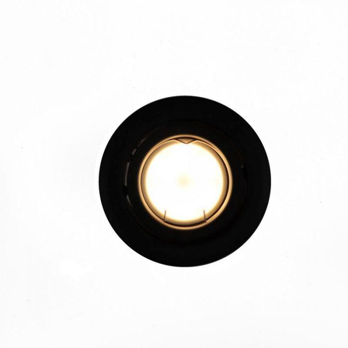 Kantelbare zwarte Storx inbouwspot