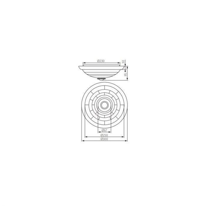 Witte plafondlamp Extet met bewegingsmelder, E27 fitting