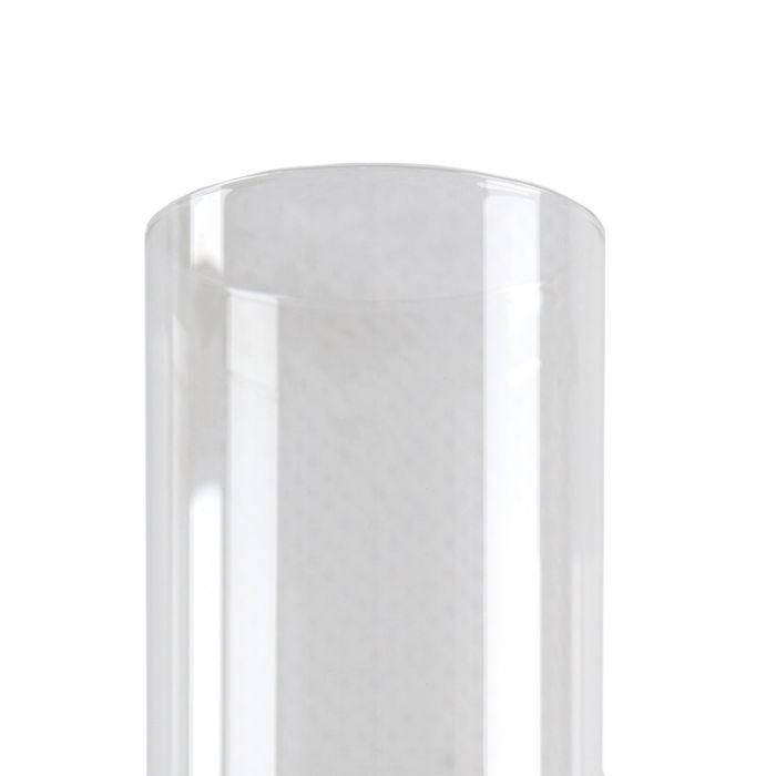 Zwarte Design tafellamp Giulio, transparante koker, met touchdimmer