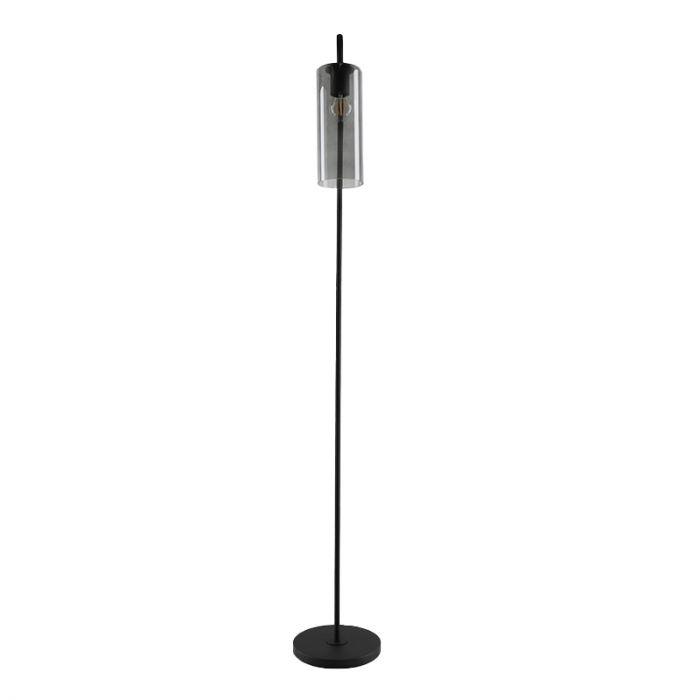 Design glazen vloerlamp met boog Nabil, smoke grey koker