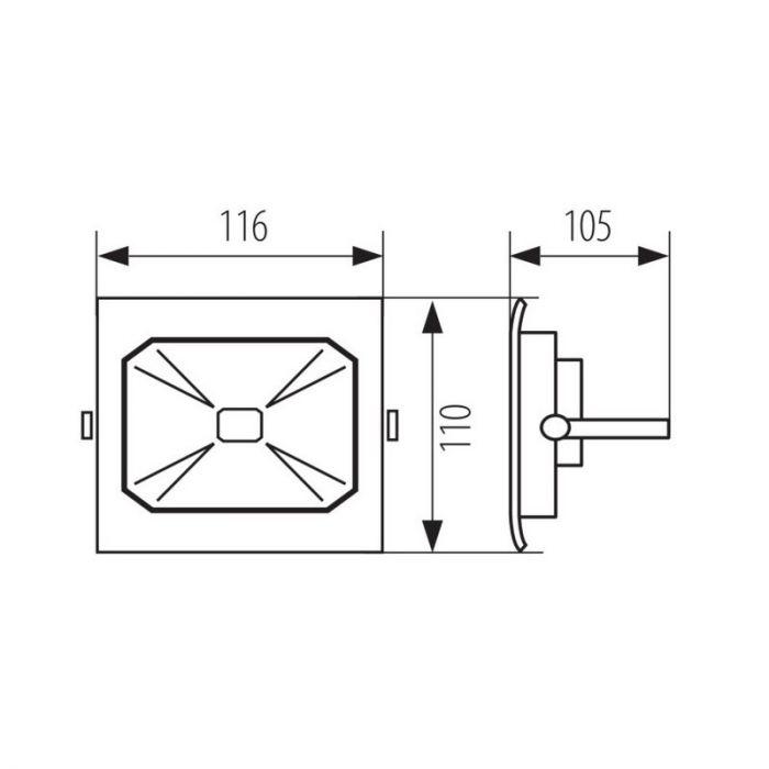Stijlvolle, grijze schijnwerper Roda - 10 Watt