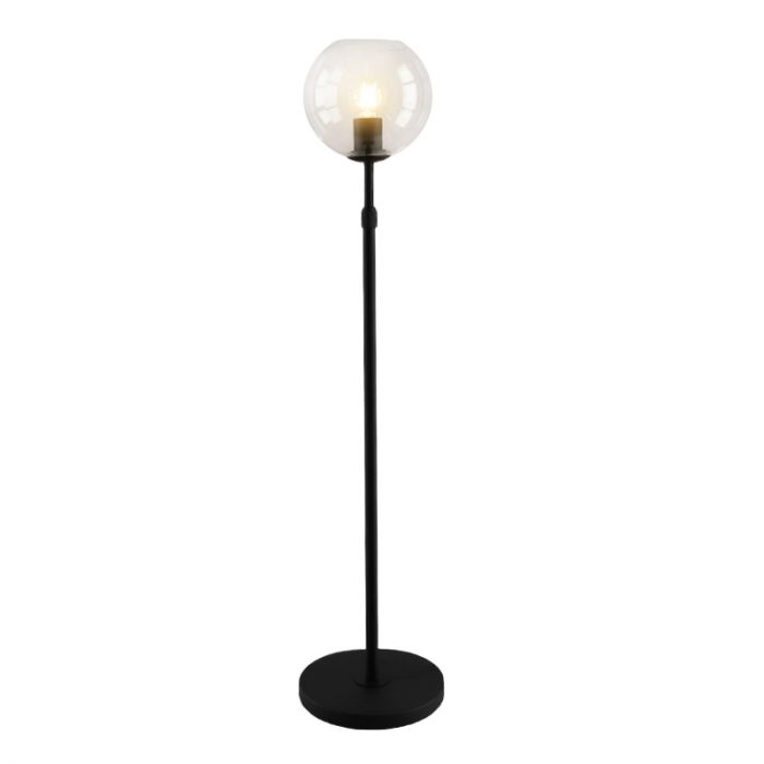 Staande design Tafellamp Myra, transparante bol