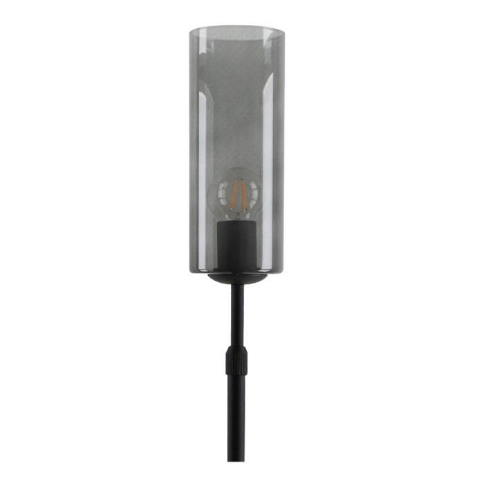 Staande design Tafellamp Myra, rookglas koker
