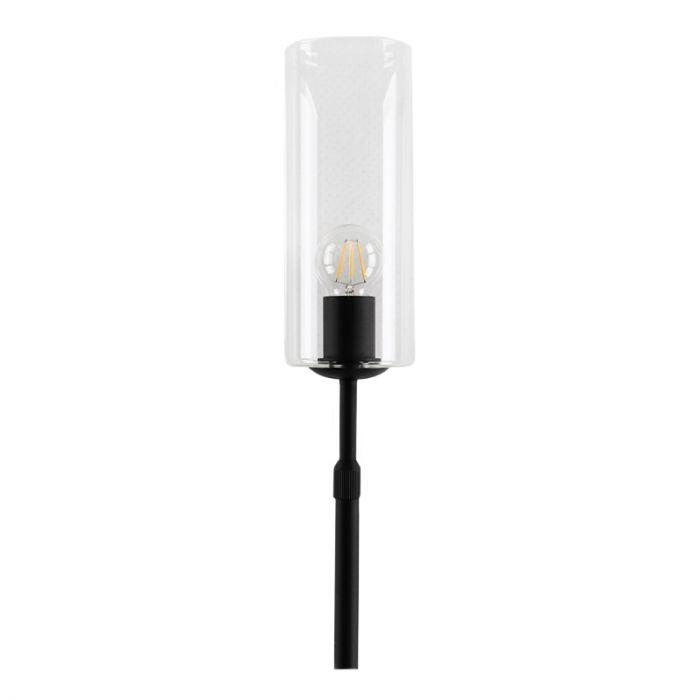 Staande design Tafellamp Myra, transparante koker