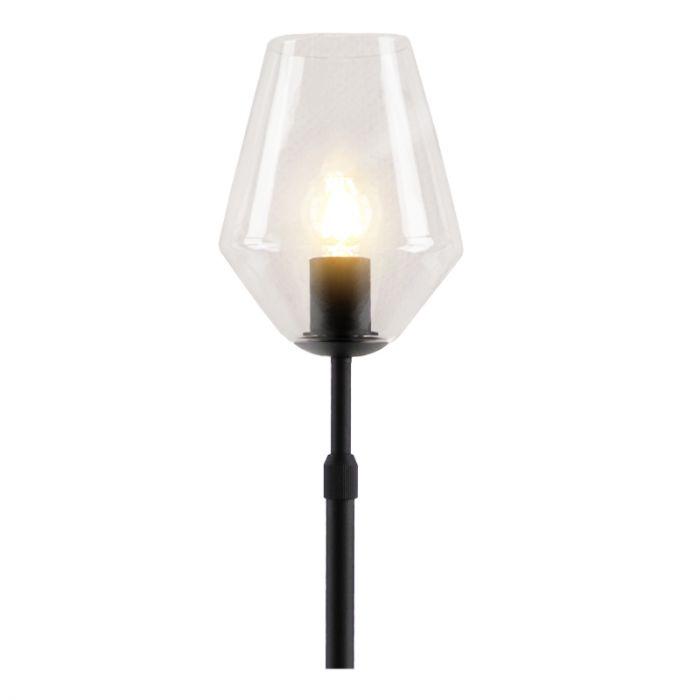 Staande design Tafellamp Myra, transparante diamant