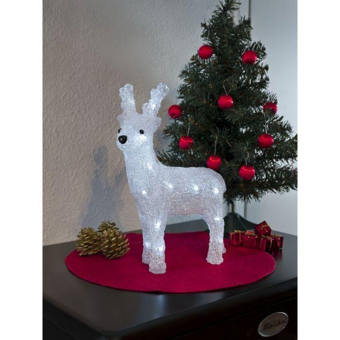 Klein kerst rendier, LED - 32cm, op batterij, voor binnen