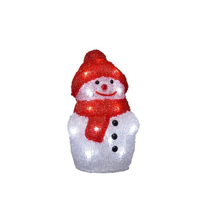 LED Sneeuwpop - 22cm, op batterij, voor binnen