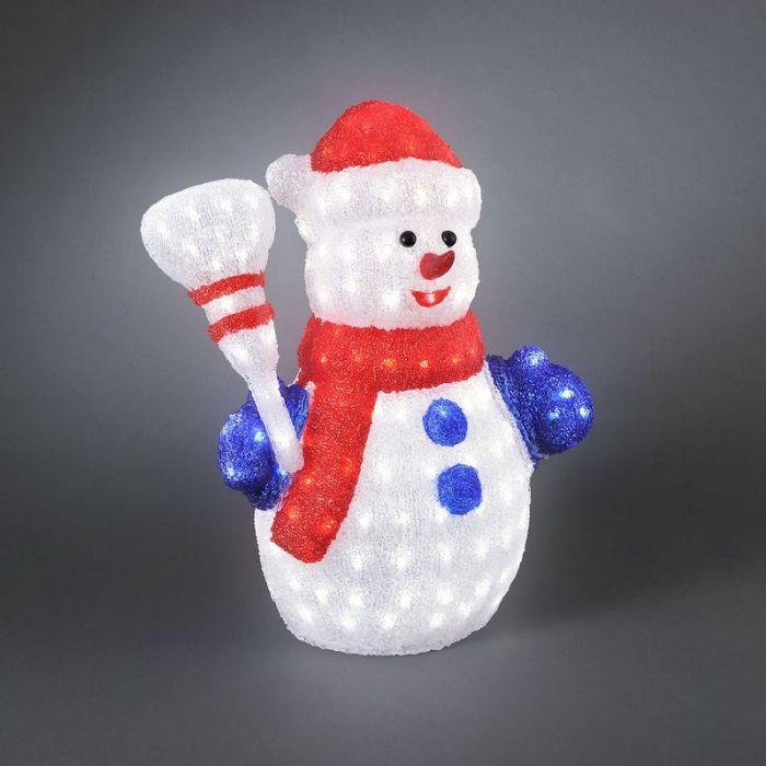 Acryl sneeuwman kerst, LED, 60 cm hoog