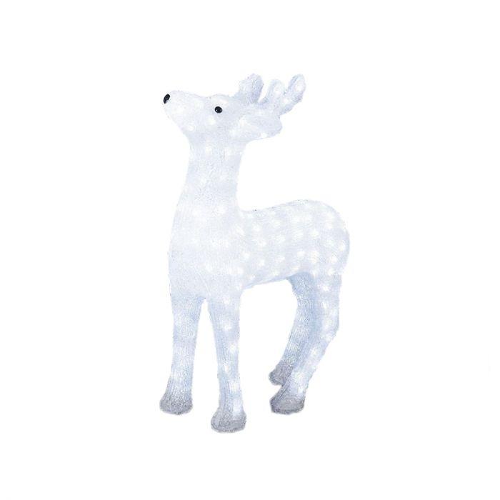 Acryl rendier kerst, LED - 60 cm hoog