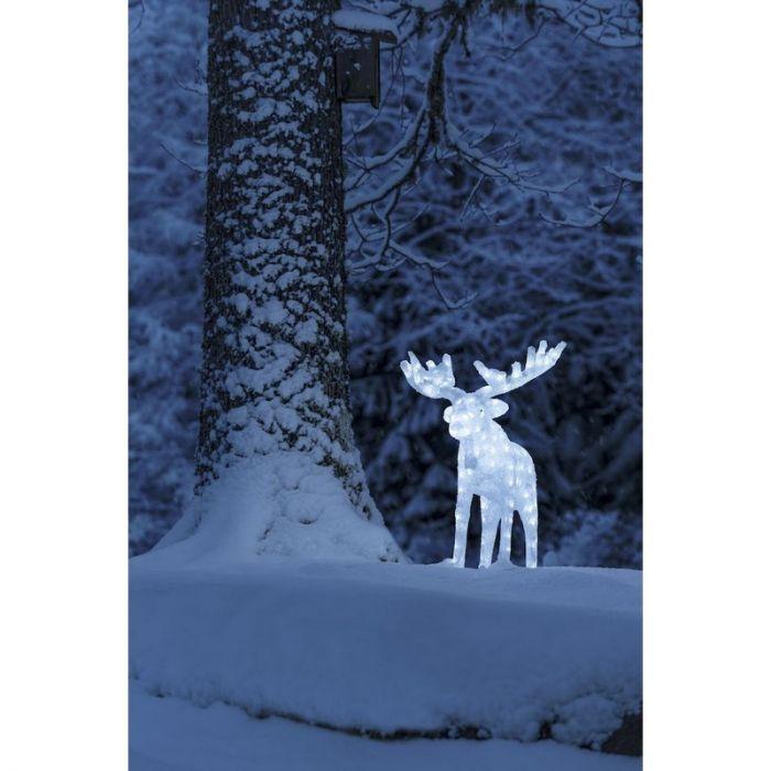 Grote LED Eland kerstfiguur - 100cm