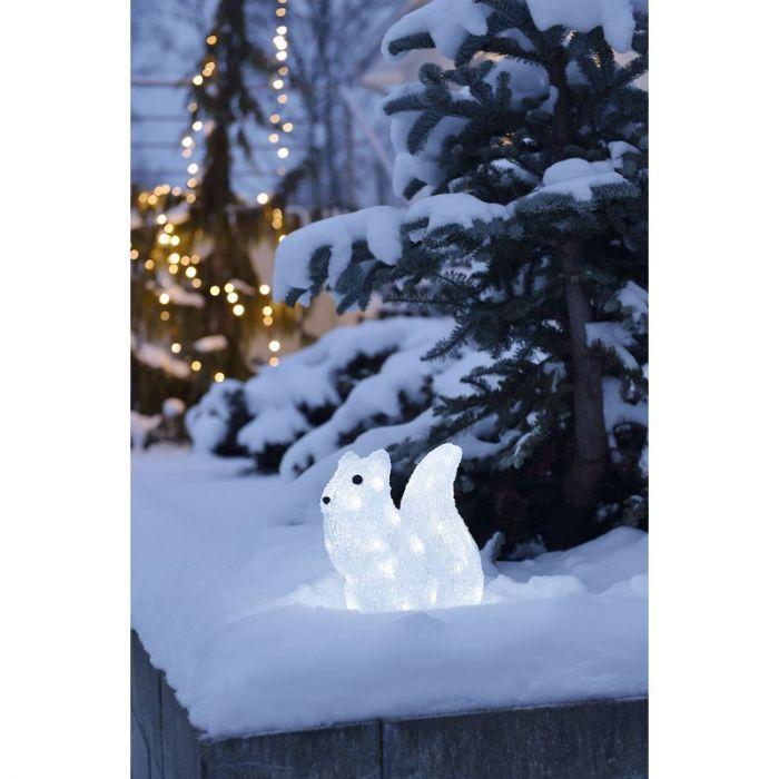 Eekhoorn, kerst, LED, acrylaat, 30 cm breed