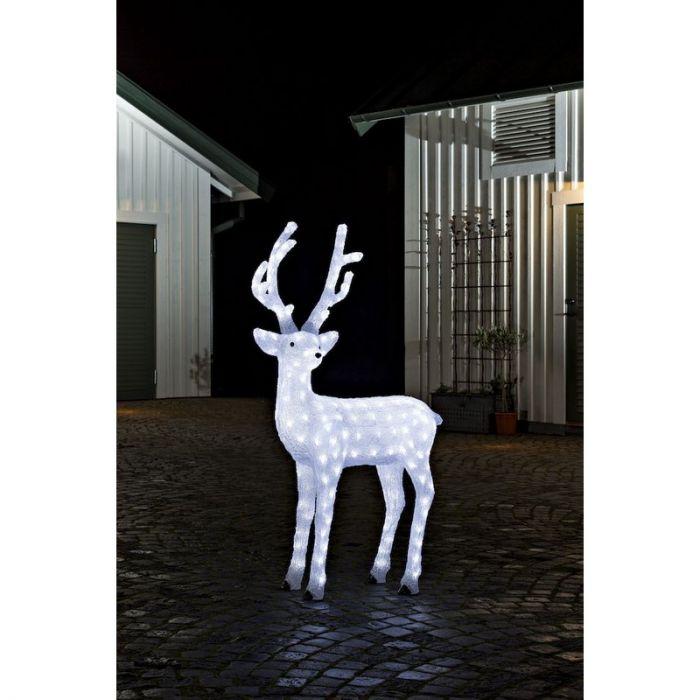 Groot kersthert met gewei - 130 cm hoog
