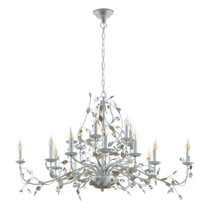 Zilveren klassieke hanglamp, Akke, staal